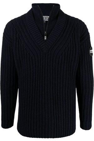 Armani Men Sweatshirts - Logo patch knit jumper