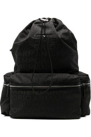 Emporio Armani Men Rucksacks - Logo print backpack