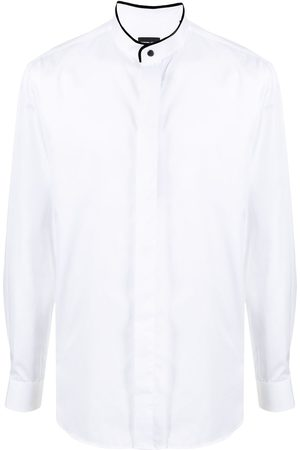 Armani Men Long sleeves - Mandarin-collar long-sleeve shirt