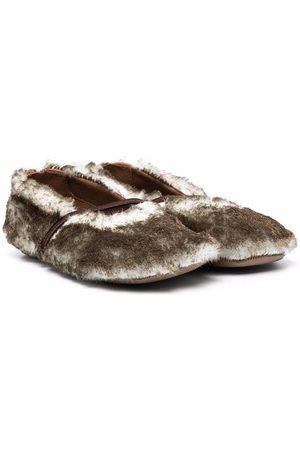 PèPè Faux-fur ballerina shoes