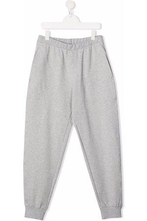 PHILOSOPHY DI LORENZO SERAFINI Sweatpants - TEEN tapered stretch-cotton track trousers - Grey