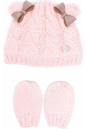 MONNALISA Chunky-knit hat and mittens set