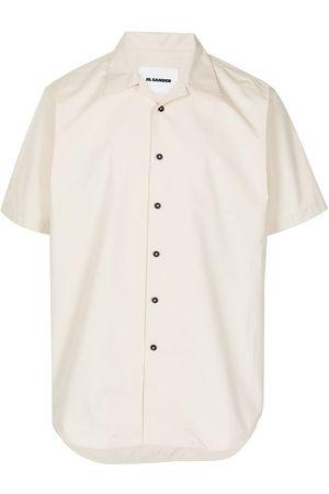 Jil Sander Men Short sleeves - Short-sleeve regular fit shirt - Neutrals