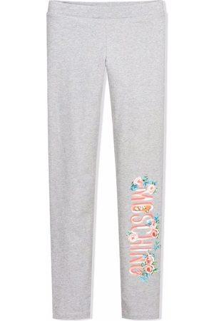 Moschino Girls Leggings - Logo print stretch leggings - Grey
