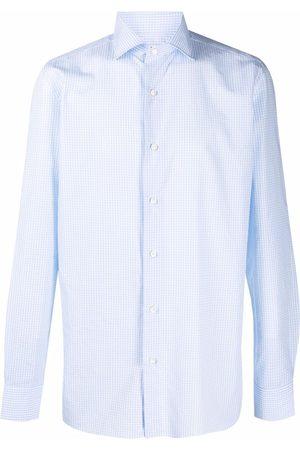 LUIGI BORRELLI NAPOLI Check-pattern long-sleeved shirt