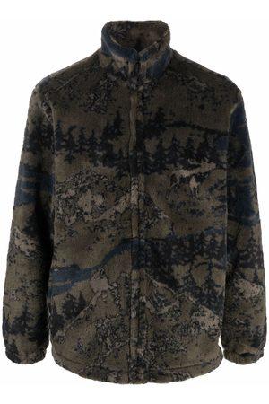 Carhartt Men Fleece Jackets - Camouflage-print fleece jacket