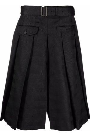 Comme des Garçons Men Bermudas - Pleated cotton-blend knee-length shorts