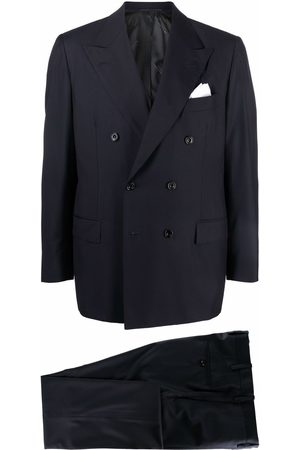 Kiton Double-breasted wool suit