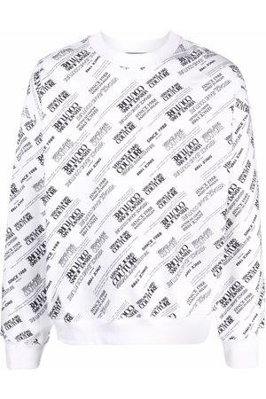 VERSACE Logo-print long-sleeved sweatshirt
