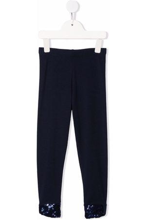 Billieblush Girls Leggings - Sequin-embellished cotton leggings