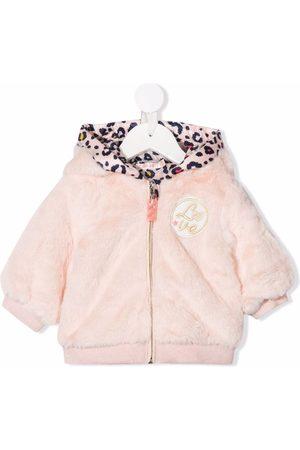 Billieblush Bomber Jackets - Embroidered-Love hooded jacket