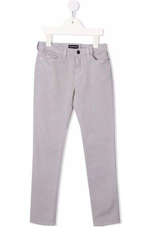 Emporio Armani Girls Skinny Pants - Slim-cut trousers - Grey