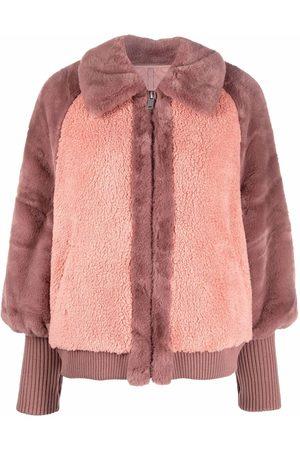 UGG Women Jackets - Two-tone faux fur jacket