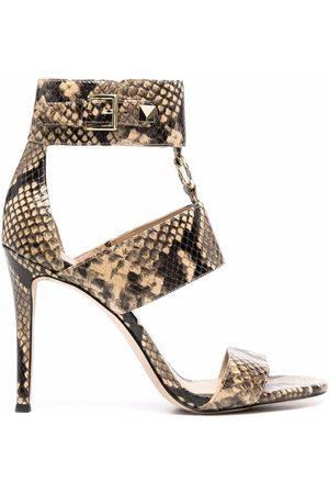 Michael Kors Amos snakeskin-effect leather sandals - Neutrals