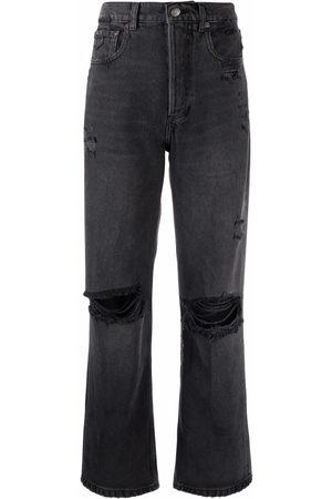 Boyish Jeans Women Straight - Distressed straight-leg jeans