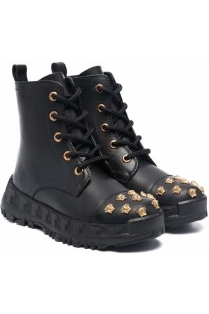 VERSACE Medusa stud lace-up boots