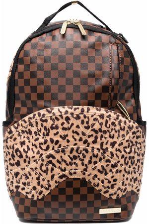 Sprayground Men Rucksacks - Checkered animal-print backpack