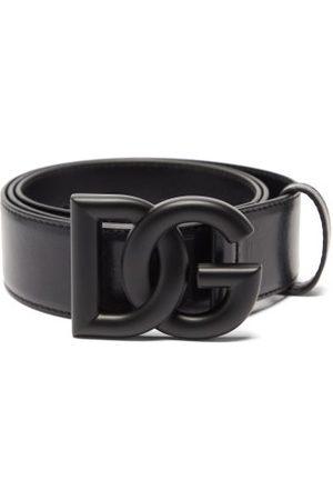 Dolce & Gabbana Logo-buckle Leather Belt - Mens