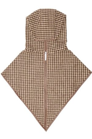 Ruslan Baginskiy Leather-trim Houndstooth Cotton-blend Snood - Womens - Multi