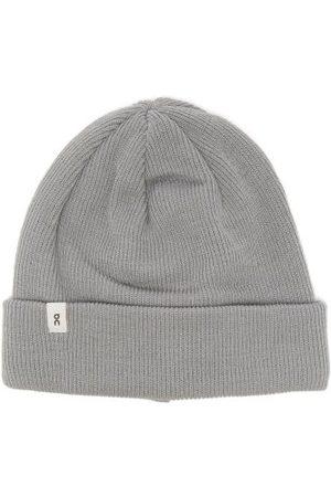 ON Men Beanies - Logo-label Ribbed-merino Beanie Hat - Mens - Grey