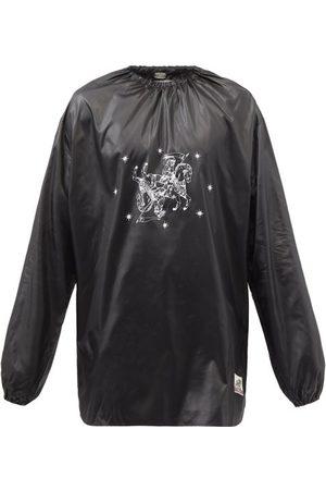 Boramy Viguier Men Long sleeves - Logo-print Satin Long-sleeved Top - Mens