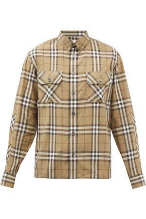 Burberry Men Shirts - Coulsdon Heritage-check Cotton-poplin Shirt - Mens