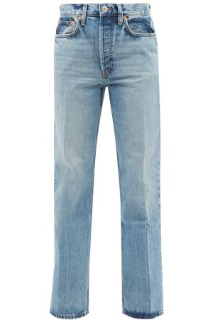RE/DONE 70s High-rise Flared Jeans - Womens - Light Denim