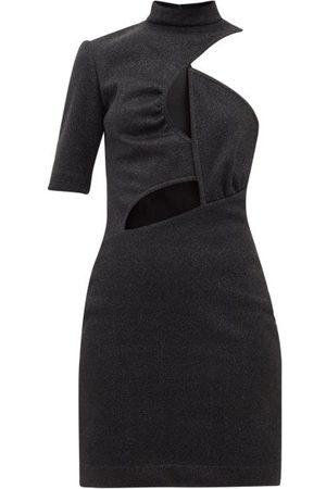 Stella McCartney Women Casual Dresses - Malisa Cutout Glitter-jersey Mini Dress - Womens