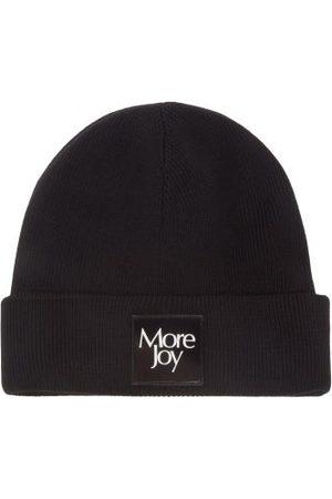 Christopher Kane Men Beanies - Logo-patch Ribbed-merino Beanie Hat - Mens