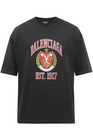 Balenciaga Men T-shirts - Logo-print Cotton-jersey T-shirt - Mens
