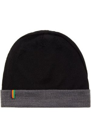 Iffley Road Barnes Ii Logo-grosgrain Merino Beanie Hat - Mens