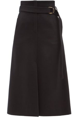 Another Tomorrow Women Midi Skirts - Belted High-rise Cashmere Midi Skirt - Womens