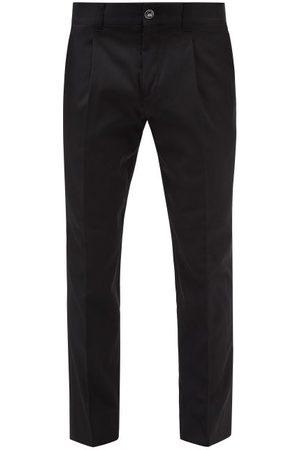 Burberry Men Straight Leg Pants - Dover Wool-blend Twill Straight-leg Trousers - Mens