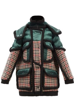Stella McCartney Women Jackets - Vera Oversized Wool & Nylon Hooded Coat - Womens - Multi