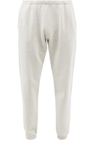 ERL Elasticated Cotton-blend Jersey Track Pants - Mens - Grey