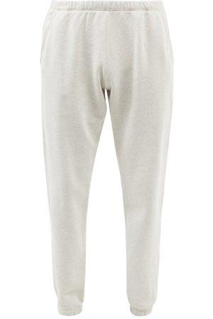 ERL Men Sweatpants - Elasticated Cotton-blend Jersey Track Pants - Mens - Grey