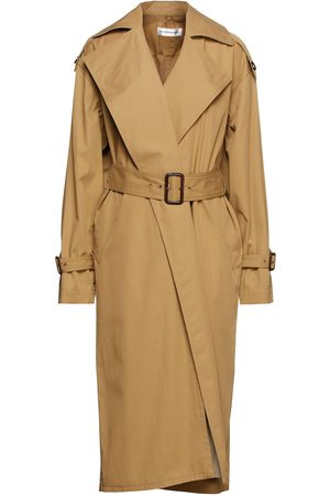 Victoria Beckham Women Trench Coats - Woman Belted Cotton-gabardine Trench Coat Sand Size L