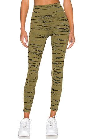 Beyond Yoga Women Leggings - High Waisted Midi Legging in Olive.
