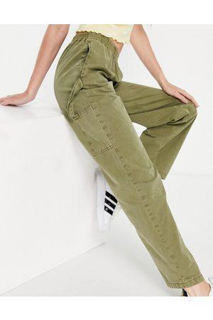 ASOS Pull on pants with hammer loop in khaki