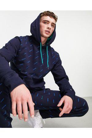Champion Men Hoodies - All over logo print sweatshirt in navy