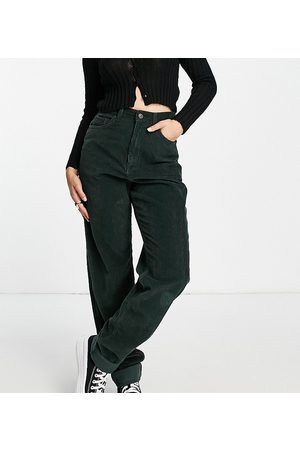 ASOS Women High Waisted - ASOS Design Tall high rise 'slouchy' mom jean in forest cord