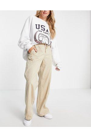 Free People Wide leg denim jeans-Neutral