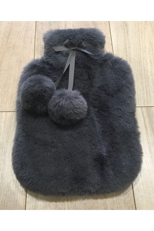 Nooki Women Sports Equipment - Faux Fur Hot Water Bottle Cover - Slate Grey