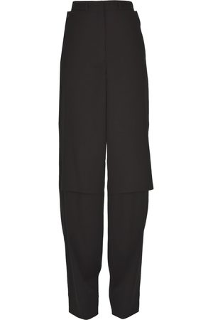 LEMAIRE Wide leg wool trousers