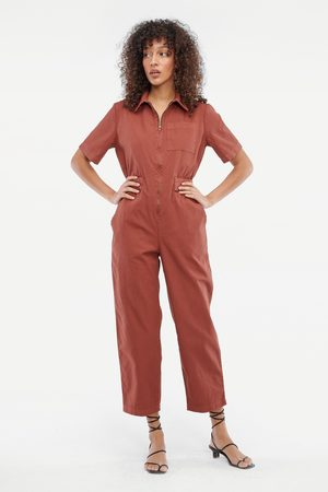 LACAUSA Women Jumpsuits - Pico Jumpsuit in Sienna