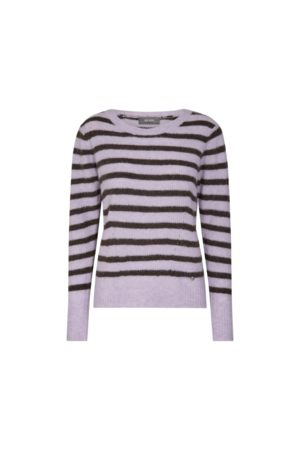 Mos Mosh Women Tops - Thanne Stripe Knit - Lilac /