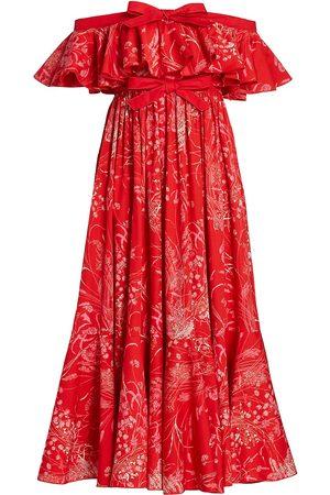 Giambattista Valli Women Strapless Dresses - Floral Off-The-Shoulder Midi-Dress