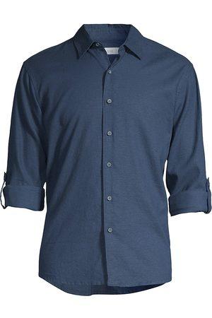 ONIA Men Shirts - Stretch-Linen Roll-Up Shirt