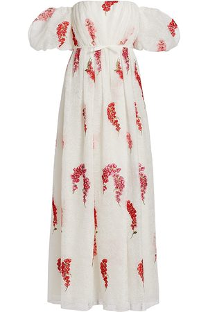 Giambattista Valli Women Strapless Dresses - Lace & Embroidery Off-The-Shoulder Dress