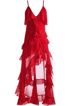 ALICE+OLIVIA Laverne Asymmetric Ruffle Dress